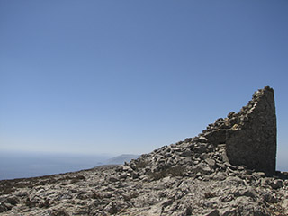 'Mill on top', Between Tholaria and Lagkada Villages, Amorgos Island, Greece